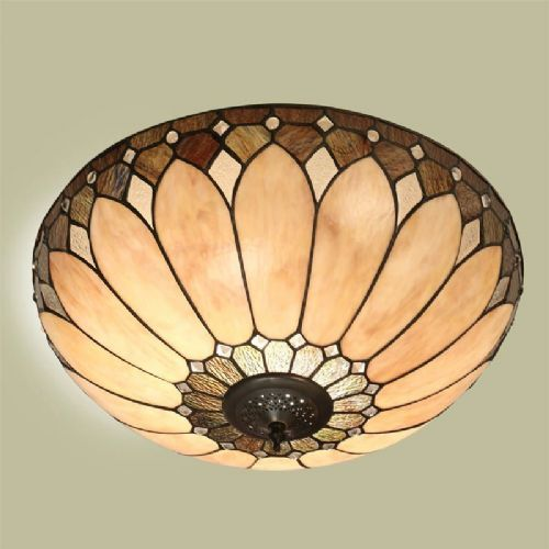 Brooklyn Flush Ceiling Light (Art Deco, Flush Fitting) T048FL (Tiffany style)
